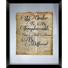 """PTM Images 22 in. x 18 in. """"Be Different"""" Framed Wall Art. Me Quotes, Motivational Quotes, Inspirational Quotes, Wisdom Quotes, Boat Names, Thing 1, Inspiring Quotes About Life, Good Advice, Framed Wall Art"""