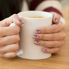 Minx Nails Grunge Art Floral Abstract Nail Sticker   #Zazzle #Minx #Nails #Grunge #Art #Floral #Abstract #Stickers #fashion #glamour #Accessories