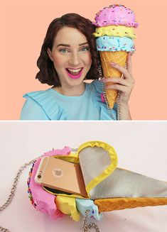 Food-Inspired Handbags That Will Make You Hungry If you're starving for a new statement piece, you might want to fill up on these satisfying handmade purses by Rommy Kuperus. Big Purses, Unique Purses, Handmade Purses, Unique Bags, Cute Purses, Cute Handbags, Purses And Handbags, Novelty Bags, Clutch