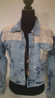 Denim Jackets, Lace, Sew, Clothes, Fashion, Jean Jacket Hoodie, Carnival, Outfits, Moda