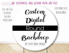 Custom digital Backdrop banner Custom Wall banner Custom | Etsy