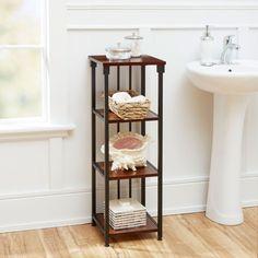 Ava Bathroom Collection 4 Tier Floor Shelf, Oil Rubbed Bronze North Oaks Freestanding