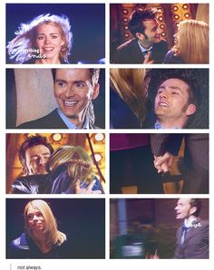 "Rose and Ten. ""Not everything ends. Not love. Not always."" Love his face in the second from the top on the left :)"
