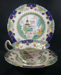 35 best noritake images on pinterest tea pots noritake and tea cup antique royal doulton pagoda art deco oriental tea cup trio saucer side plate fandeluxe Image collections