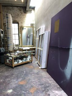 Julian Schnabel's studio. Photo courtesy of the Fine Arts Museums of San Francisco