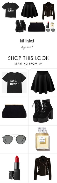 """""""HIT LISTED- BY ME!"""" by avalon-mulenski on Polyvore featuring Ray-Ban, NARS Cosmetics and Balmain"""
