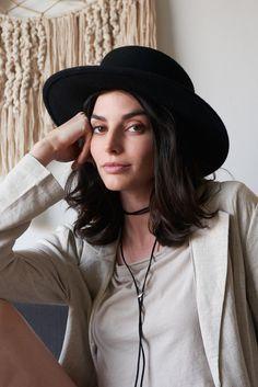 The Muse Boater - Whimsy and Row - #lackofcolor #boater #hat - find it on whimsyandrow.com