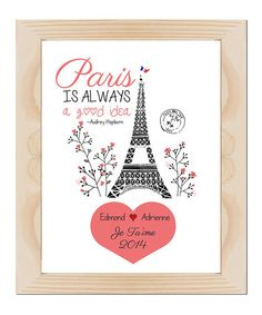 Love this Audrey Paris Personalized Poster on #zulily! #zulilyfinds