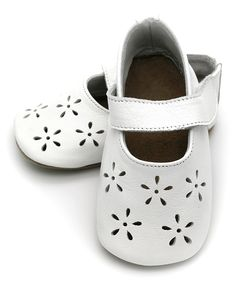 Look at this ELK White Cutout Precious Leather Mary Jane on #zulily today!