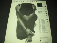 TRACY CHAPMAN May 20 through July 4, 1990 TOUR DATES Promo Poster Ad mint cond