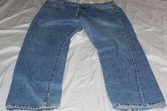 Levis 501 36x32 blue jeans pre-owned #Levis #straightleg