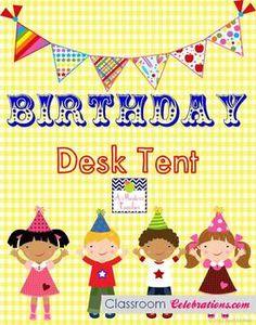 Birthday Desk Tent FREE
