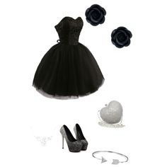 Black by brittneydelis on Polyvore featuring polyvore, fashion, style and Bling Jewelry