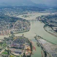 From the plane by by downtownnewwest Fraser River, Great North, New West, Super Natural, Aerial Photography, Surrey, Aerial View, British Columbia, Plane