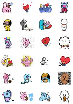 Pin by jesha samoranos on bts fanart Stickers Printable, Cute Stickers, Kawaii Stickers, Bts Chibi, Bts Meme, Fanart Bts, Drawing Journal, Kpop Drawings, Line Friends