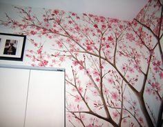 cherry blossom tree mural - Google Search