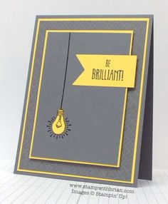 Stampin' Up! Cards - Sale-A-Bration You Brighten My Day stamp set Cards For Men, Kids Cards, Card Making Inspiration, Making Ideas, Creative Inspiration, Just In Case, Just For You, Scrapbooking, Graduation Cards
