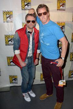 Moderator Chris Hardwick and Benedict Cumberbatch (Photo by Albert L. Ortega/Getty Images)