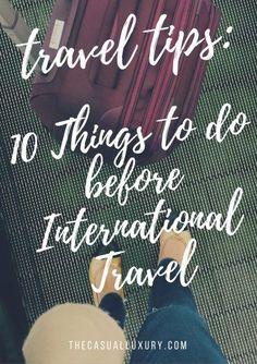 10 International Travel Tips