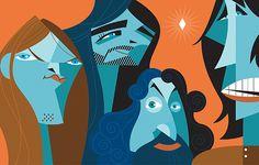 Pablo Lobato ~ Pink Floyd: David Gilmour, Nick Mason, Richard Wright, and Roger Waters