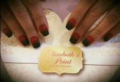 Nail's art @ Elisabeth's Point Matte black and red ombre nails