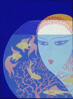 'Aquarium', Harper's Bazaar cover, 1923.  Artist: Erte
