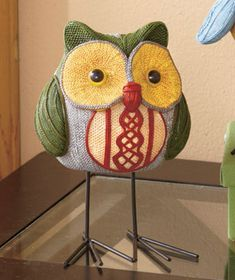Owl Home Collection: Owl on the Prowl Figure with Metal Feet - $4.75