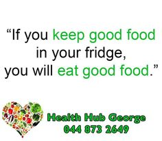 If you keep good food in your fridge, you will eat good food. #HealthHub #SundayMotivation