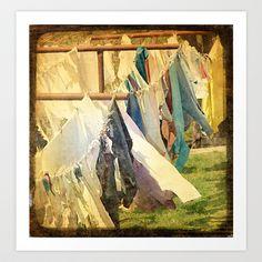 Clothsline Art Print by Angelandspot - $14.00