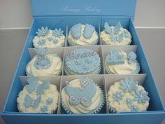 New Baby Boy Cupcake Gift Box