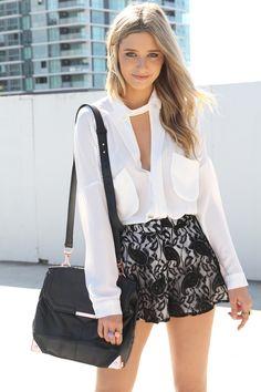 Black Lace Shorts