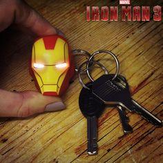 Porte-Clés Iron Man Torche Led Marvel. Kas design, Distributeurs de produits originaux