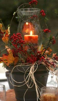 Resultado de imagen de podzimní a vánoční dekorace