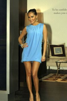 Adrienne Bailon - she is 4'11' !! yet her legs look so long in this dress