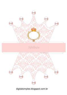 "Caixa Coroa Tema""Coroa Rosa Menina"""