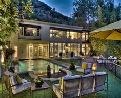 John Lennon's former home in Los Angeles ~ The villa is located in the glamorous Hollywood Hills neighborhood