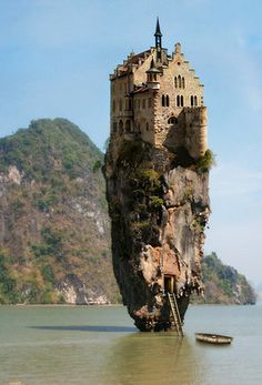 Does anyone know if this is an actual castle? Or was it just photoshopped? Real or not...thats too cool