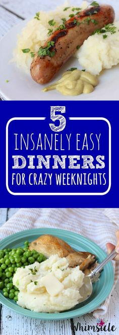 5 easy dinner recipes for simple weeknight meals.  These are also great kids meals for pleasing those picky eaters. [ad] #SignatureRussets, /idahoanfoods/
