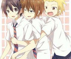 Danshi Koukousei no Nichijou ~~ The threesome does a conga dance? Or is it something more?