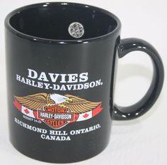 Richmond Hill Ontario Canada Harley Davidson Coffee Mug Cup Black