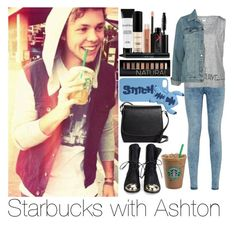 """Starbucks with Ashton"" by juliaskorzewska1 ❤ liked on Polyvore featuring Vero Moda, Smashbox, Forever 21, Disney and Brooks Brothers"