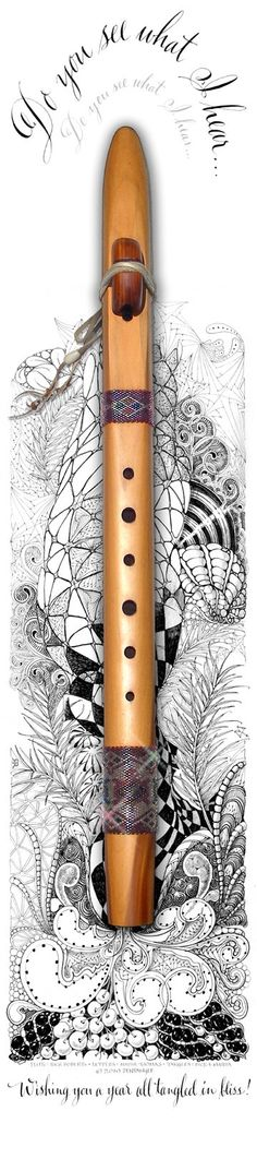 Flute by Maria Thomas, Zentangle co-founder