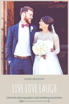 """Live love laugh 🙂 Cam asta trebuie sa faceti voi 😛 Si eu ma ocup de restul 🙂 Este povestea voastra! Stilul meu este unul documentar, simplu si natural. Apreciez simplitatea, de cele mai multe ori ma ghidez dupa expresia """"less is more"""", astfel incat naturalul si emotia pot sa iasa in evidenta in cele mai pure forme ale lor. Cu drag, Dana #wedding #photography #weddingphotography #bride #groom #weddingrings #love #weddingdress"""