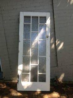 Door old glass panelled 1920s