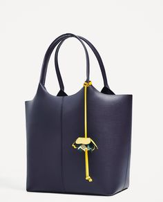 ZARA - WOMAN - TOTE BAG WITH FLOWER PENDANT