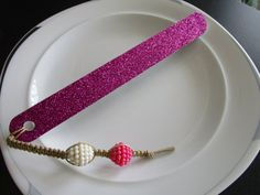 Macrame beaded bookmark and nail file gift for by LeeliaDesigns