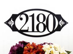 Custom Outdoor House Number Metal Sign - 4 Digit, Black, by Refined Inspirations