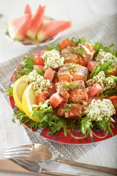 Salad Recipes, Healthy Recipes, Cobb Salad, Pesto, Food To Make, Nom Nom, Food And Drink, Fish, Baking