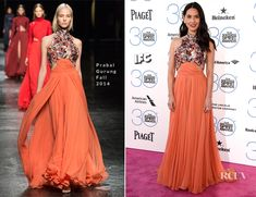 Olivia Munn glided onto the red carpet of the 2015 Film Independent Spirit Awards on Saturday (February 21) at Santa Monica Beach in Santa Monica, Californ