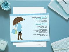 PRINTABLE baby boy shower invitation - cute for a boy baby shower or boy baby sprinkle!